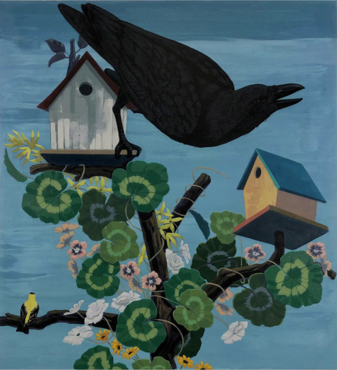 Kerry James Marshall Black and part Black Birds in America